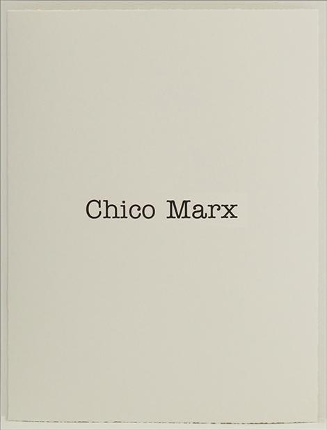 Simon Patterson, 'Chico Marx', 2018, SCHOOL