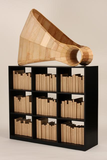 Cris Bruch, 'REJOINER', 2008-2010, Sculpture, Plywood, books, Greg Kucera Gallery