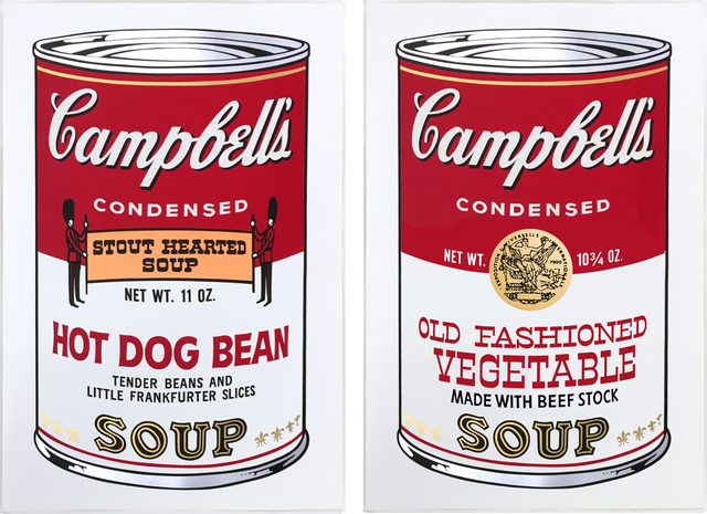 , 'Hot Dog Bean (F. & S. II 59) & Old Fashioned Vegetable (F. & S. 54) from Campbell's Soup II ,' 1969, Joseph K. Levene Fine Art, Ltd.