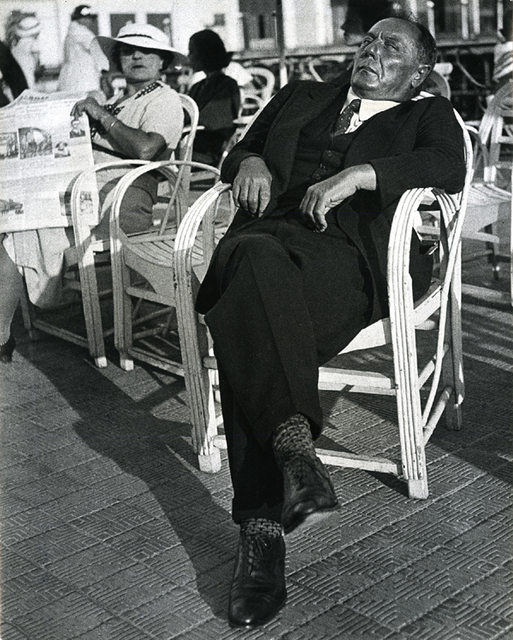 , 'French Gambler, Promenade des Anglais, Nice,' 1934 -printed later, Be-hold
