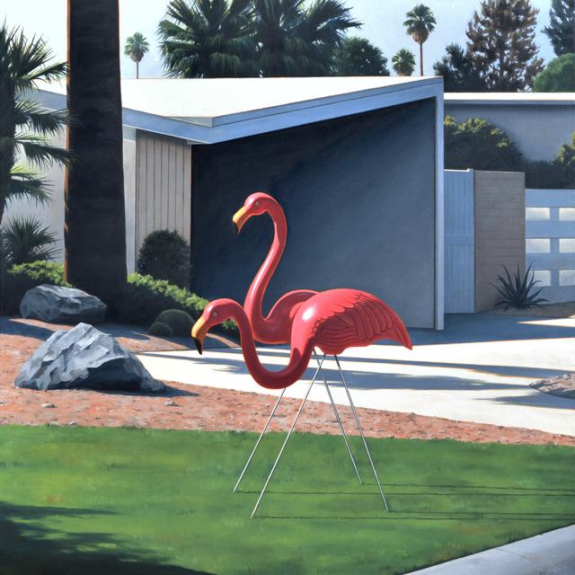 , 'Morning Lawn Flamingos,' 2017, George Billis Gallery