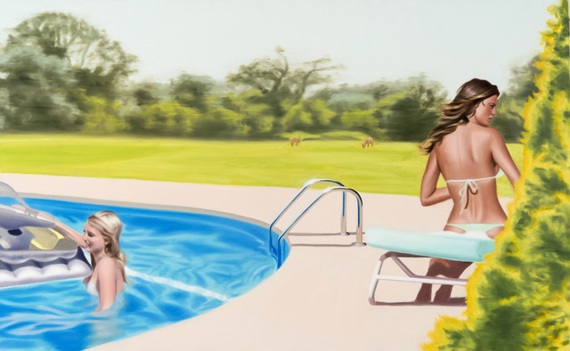 , 'Two women at The Pool,' 2015, Galleria GUM