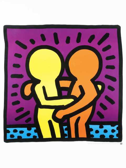 Keith Haring, 'Untitled (Best Buddies)', 1987, Print, Offset lithograph in colours, Tate Ward Auctions