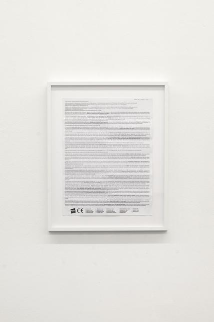 Navid Nuur, 'All rights reserved', 1979-2013, Martin van Zomeren