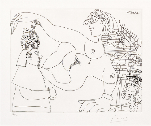 Pablo Picasso, 'Egyptien et Femmes, from 347 Series', 1968, Print, Etching, Hindman