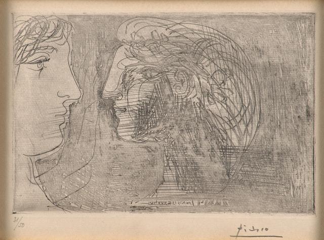 Pablo Picasso, 'Deux profils face à face', 1934, Rago