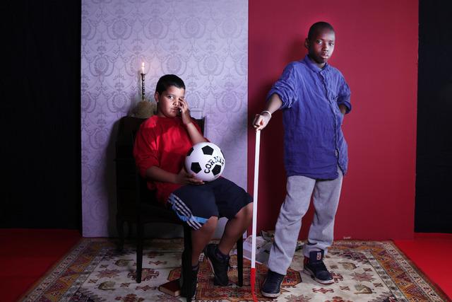, 'Jeunes hommes au ballon,' 2014, Officine dell'Immagine