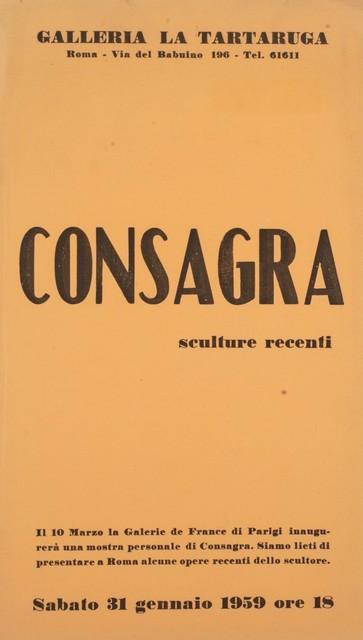 Pietro Consagra, 'Sculture recenti', 1959, Finarte