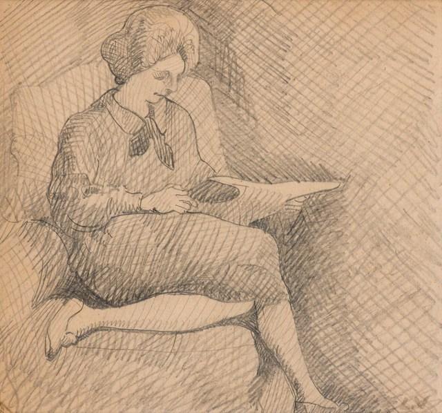 Louis Valtat, 'Femme Lisante', 1922, Doyle