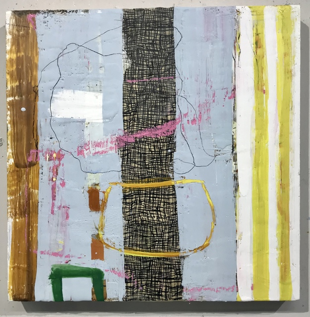 Amy Weil, 'Waiting for Spring', 2020, Painting, Encaustic and collage on wood, 440 Gallery