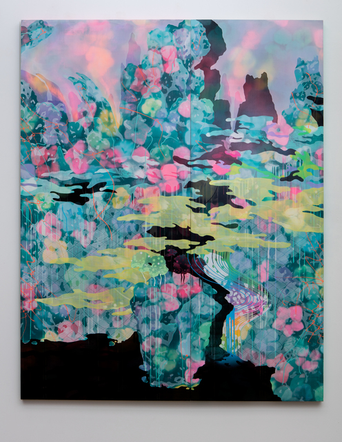 , 'The Black Lake II (A Blue Landscape),' 2015, Erin Cluley Gallery