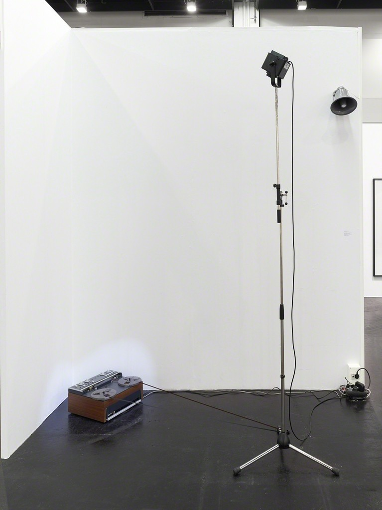 """installation view """"From: Conversation V. John Cage/Morton Feldman, Radio Happenings I-V, 16. Januar 1967, 2013-2016"""""""