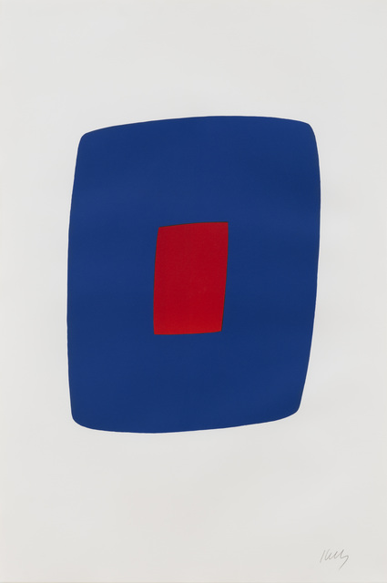, 'Dark Blue with Red,' 1964-1965, Susan Sheehan Gallery