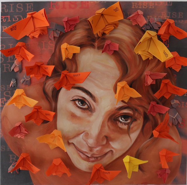 , 'I Rise (orange),' 2018, Martinez-Pedrosa Studio