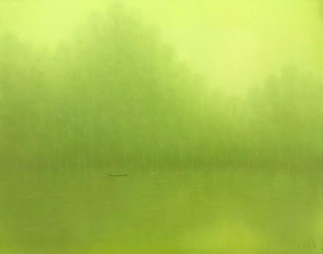 , 'Morning on the river,' 2018, ArtBlue Studio