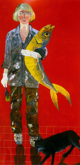 , 'Self Portrait with Fish and Cat,' 1970, George Adams Gallery