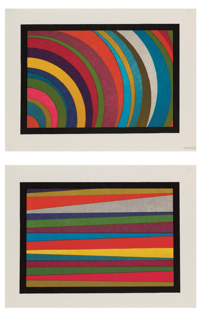 , 'Irregular Horizontal Color Bands and Irregular Colour Arcs from the Lower Left Corner,' 1997, Sims Reed Gallery