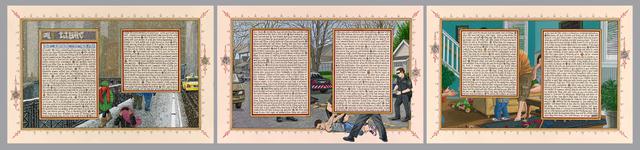 Sandow Birk, 'American Qur'an: Sura 24 A-C, triptych', 2013, Koplin Del Rio