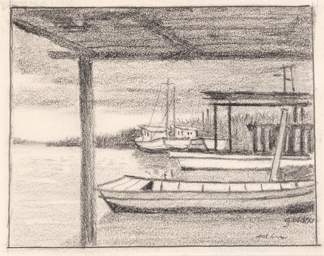 , 'Untitled - South Louisiana Boats,' ca. 1960, Mac-Gryder Gallery