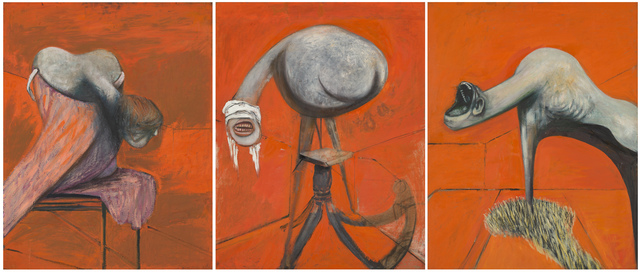 , 'Three Studies for Figures at the Base of a Crucifixion,' 1944, Tate Liverpool