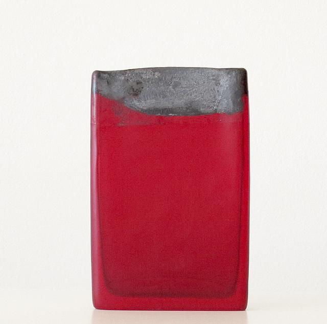 , 'Red Over Pink, Brass Foil,' 2018, James Barron Art