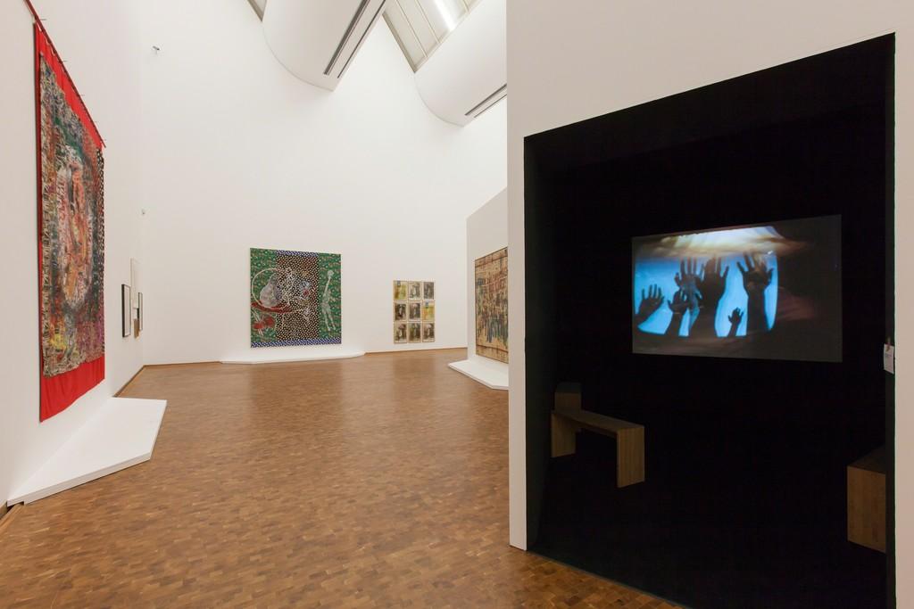 Installation view, Alibis: Sigmar Polke. Retrospective. © The Estate of Sigmar Polke / VG Bild-Kunst, Bonn, 2015. Foto: Rheinisches Bildarchiv, Köln, Alina Cürten