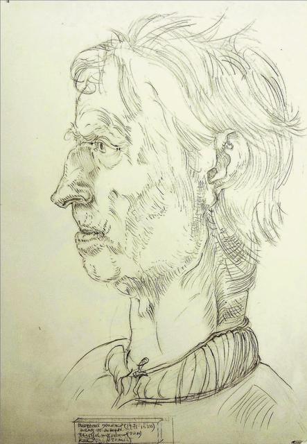 Alfred R Kelman, 'After Albrecht Dürer (1471-1528) - Head of a Man', 1992, Kate Oh Gallery