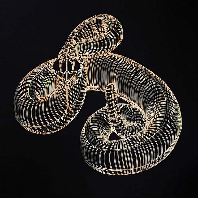 , 'Snake gold,' 2016, Victor Lope Arte Contemporaneo