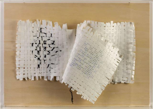 Mirello Bentivoglio, 'Libro etimologico: Text-Textile', 1988, Sculpture, Book sculpture, mixed media on plywood, ArtRite