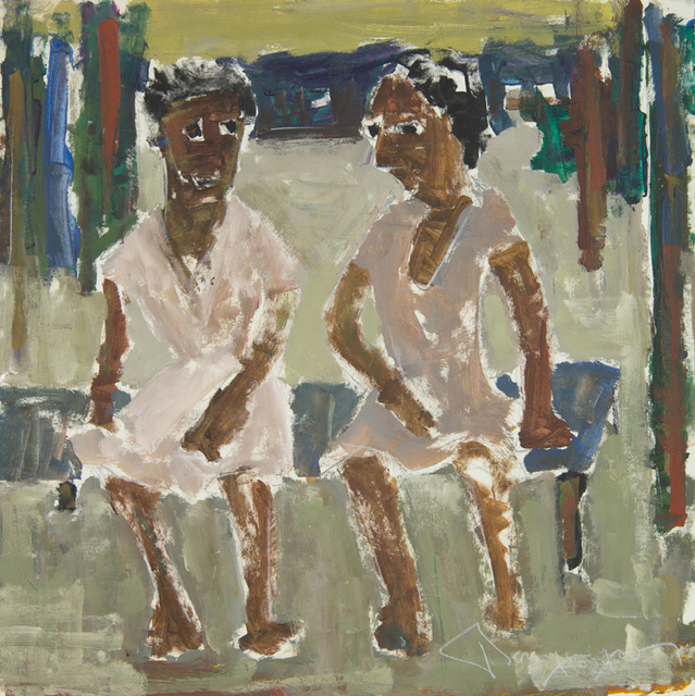 Paul-Henri Bourguignon, 'Two Women on a Bench', Eisele Fine Art