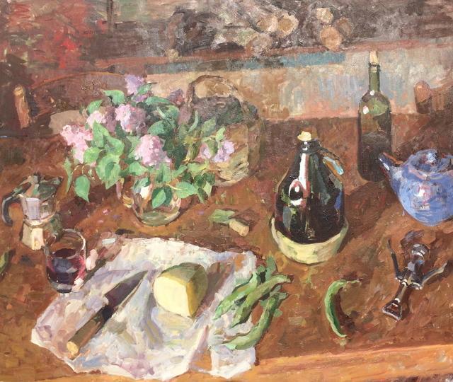 Ben Fenske, 'Lilacs, Pecorino, Wine', 2018, Grenning Gallery