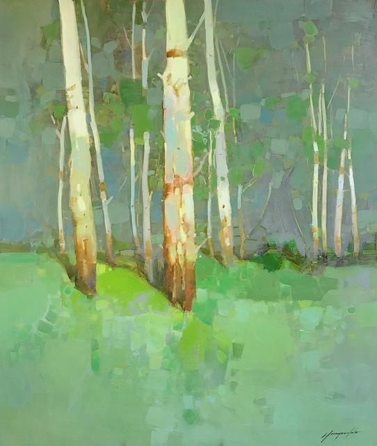 Vahe Yeremyan, 'Birches in Cobalt', 2018, Vayer Art