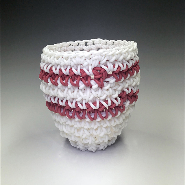 , 'White & Red Athletic Sock Stripes,' 2018, Duane Reed Gallery