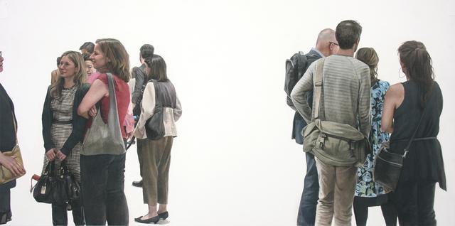 , 'Attendees,' 2017, Lyons Wier Gallery