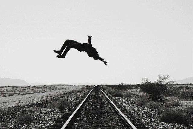 Tyler Shields, 'Train Tracks (Self-Portrait)', ca. 2013, Samuel Lynne Galleries