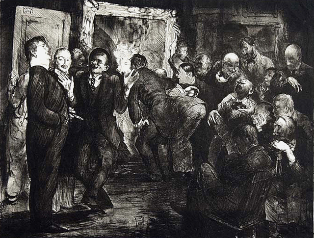 George Wesley Bellows, 'Artists Judging Works of Art', 1916, Print, Allinson Gallery, Inc
