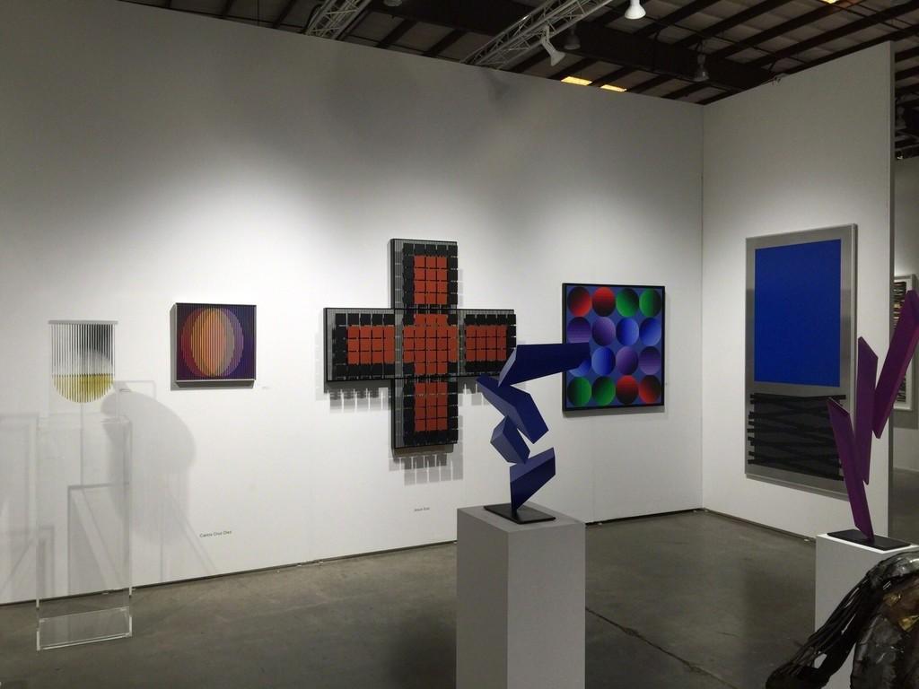 Left to Right: - Carlos Cruz Diez  Kinetic Sculptures: - Jesus Rafael Soto -  (2) Rafael Barrios
