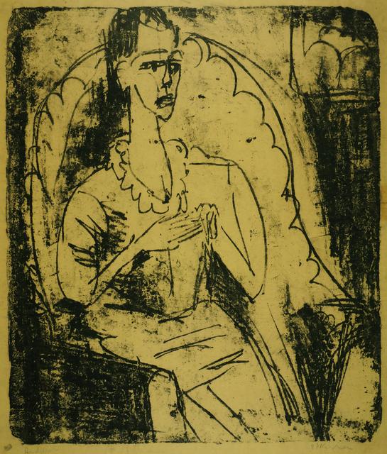 , 'Fanny in the Armchair (Fanny Wocke),' 1916, Galerie St. Etienne
