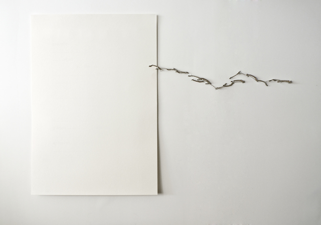 Sandra Nakamura, 'Última línea', 2014, Mixed Media, White ink on paper, typewriter parts, Wu Galeria