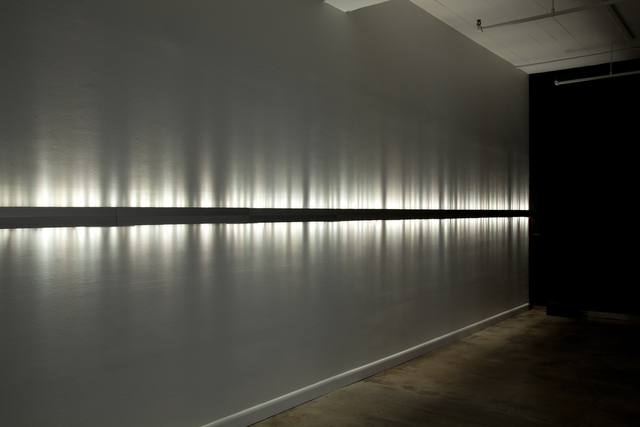 Rafael Lozano-Hemmer, 'Voice Array', 2011, Installation, Intercom, 576 white LED lights, holosonic speaker, custom-made hardware and software, bitforms gallery