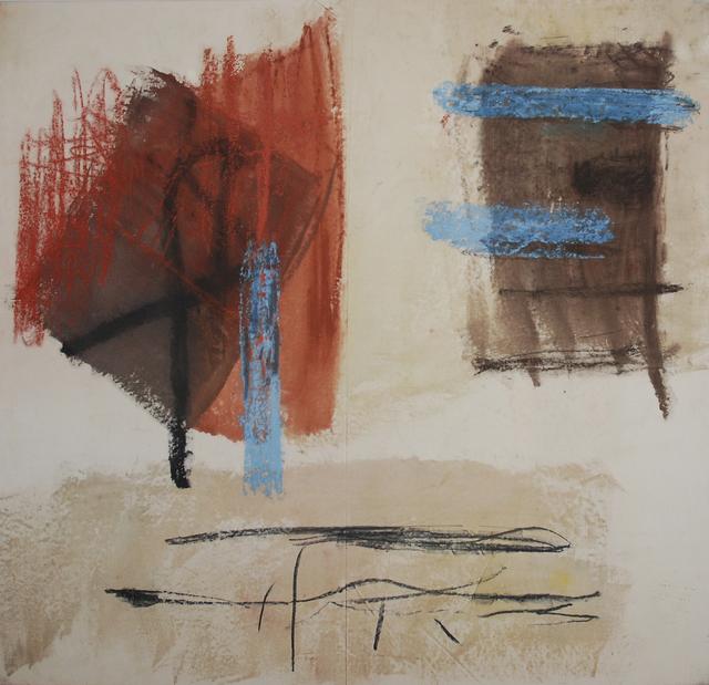 Monique Frydman, 'Sans titre', 1989, Painting, Pastels, pigments et liant sur toile de lin, Bogena Galerie