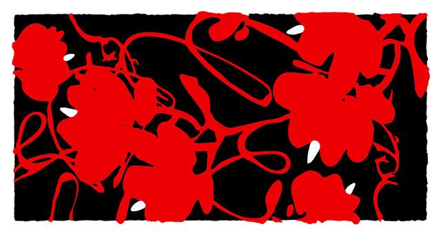 Donald Sultan, 'Lantern Flowers, Feb 17, 2012', 2012, Meyerovich Gallery