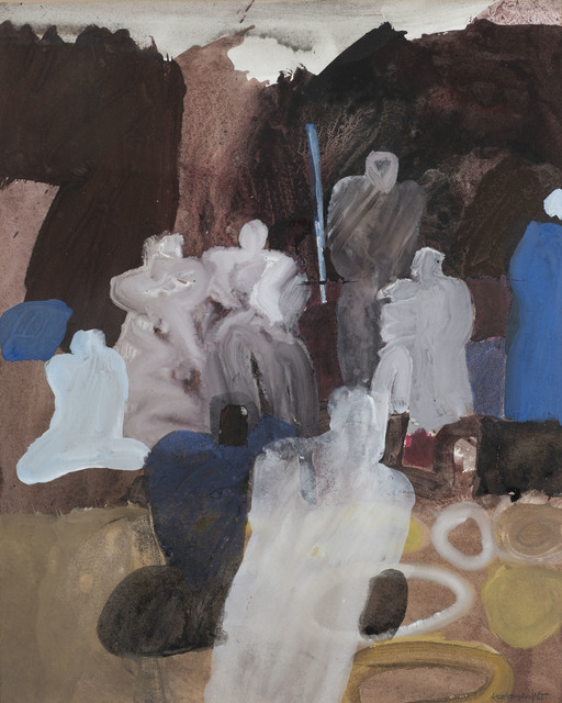 Keith Vaughan, 'Arab Market', 1965, Painting, Gouache and watercolour, Osborne Samuel