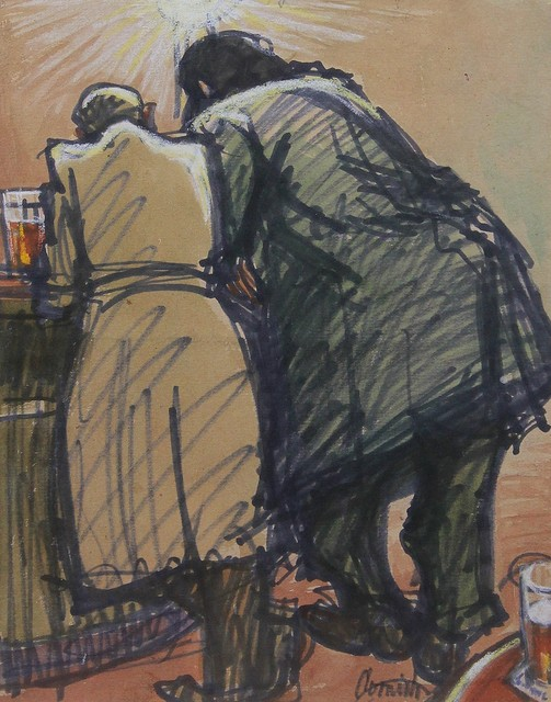 , 'Men at bar,' ca. 1965, Castlegate House Gallery