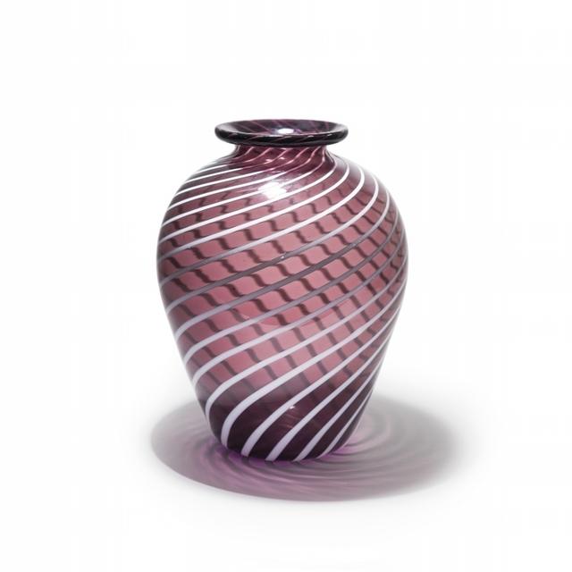 Napoleone Martinuzzi, 'A striped amethyst transparent lattimo glass vase', circa 1927, Aste Boetto