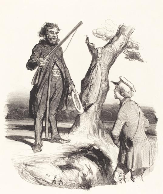 Honoré Daumier, 'Un Pauvre père de famille qui...', 1843, National Gallery of Art, Washington, D.C.