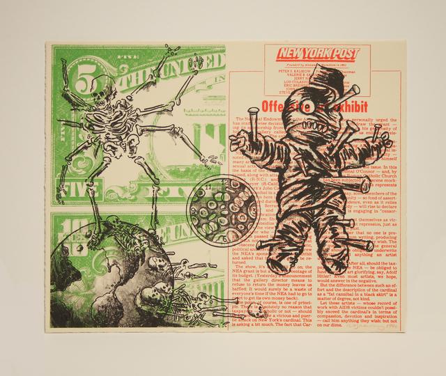David Wojnarowicz, 'UNTITLED (VOODOO DOLL AND SPIDER)', 1990, Greg Kucera Gallery