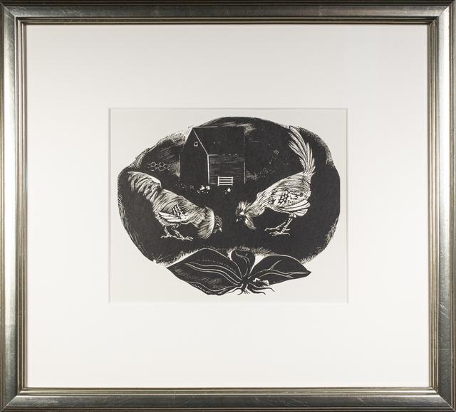, 'Brahma v. Leghorn ,' 1937, David Barnett Gallery