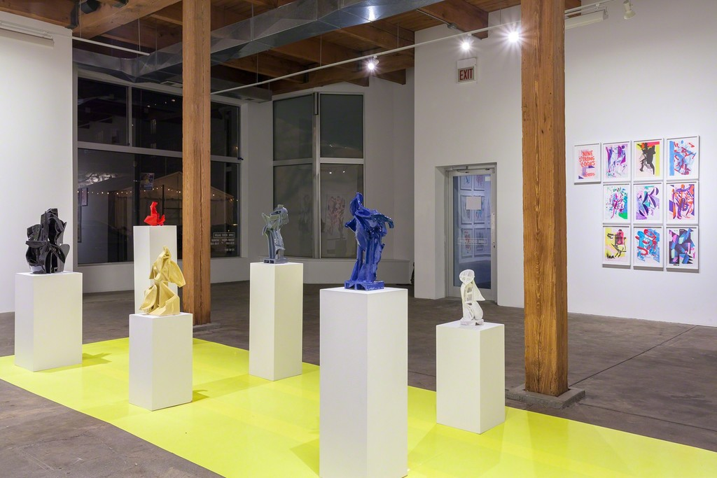 Installation view. Carrie Secrist Gallery, March, 2018