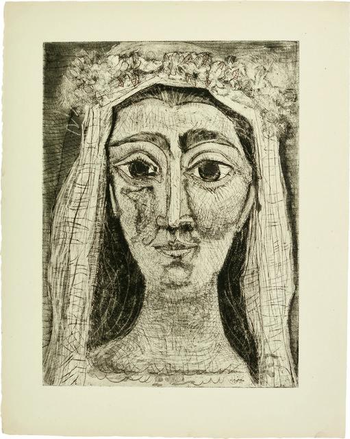Pablo Picasso, 'Jacqueline en Mariée, de face I (15th state of 18)', 1961, John Szoke